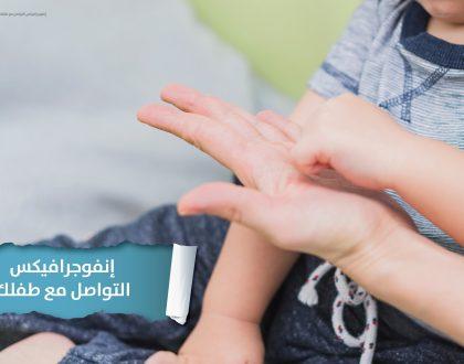 إنفوجرافيكس كتاب: كيف أنمّي كلام طفلي؟